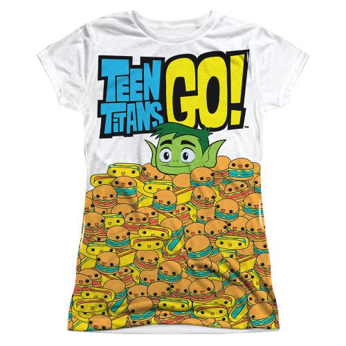 Teen Titans Go Burgers Sub Juniors T Shirt