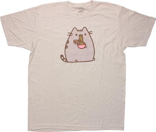 Pusheen the Cat Chopsticks Noodles T-Shirt Sheer