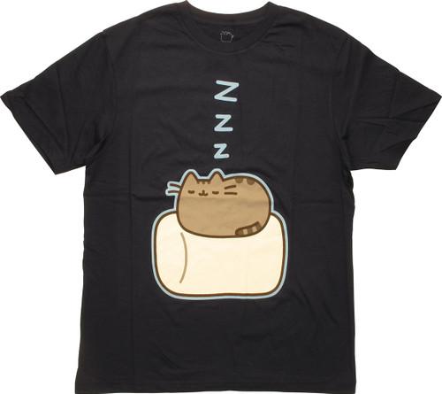 324f8abd6 Pusheen the Cat Sleeping ZZZ T-Shirt Sheer