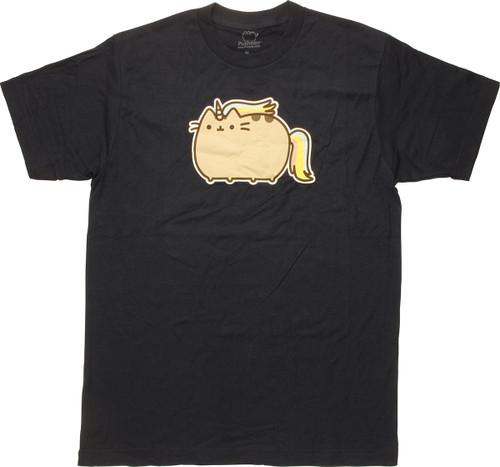Pusheen the Cat Unicorn Navy T-Shirt Sheer