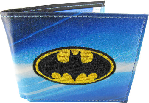 Batman Embroidered Logo Action Pose Bifold Wallet