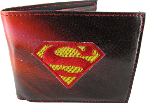 Superman Embroidered Logo Pose Bifold Wallet