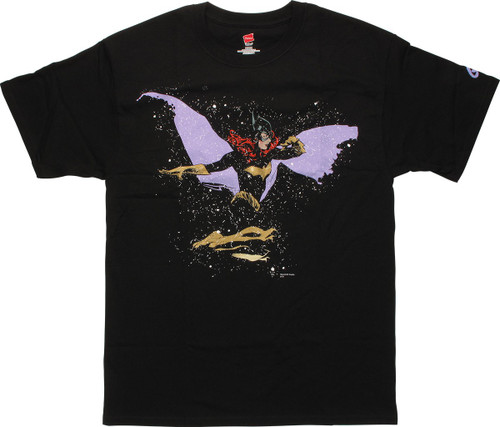 Batgirl Side Splatter Cover T-Shirt