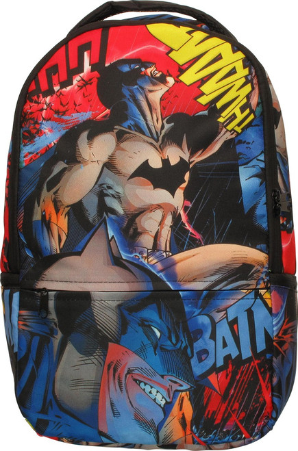 Batman All Over Action Poses Backpack