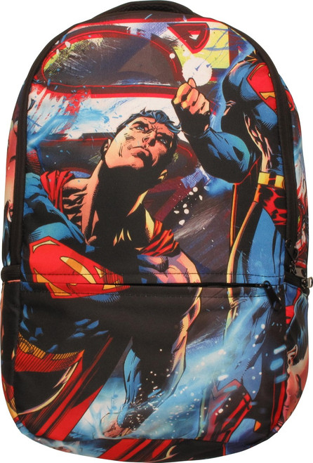 Superman All Over Action Pose Backpack