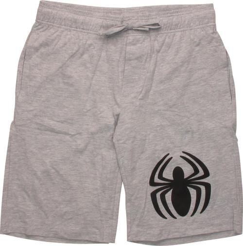 Spiderman Black Spider Logo Shorts