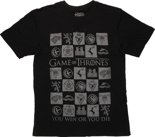 Game of Thrones You Win or You Die T-Shirt Sheer