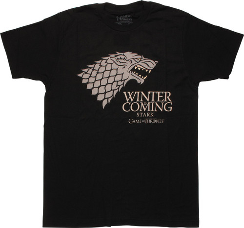 Game of Thrones Winter is Coming Stark T-Shirt