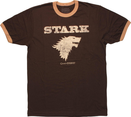 Game of Thrones Stark Insignia Ringer T-Shirt