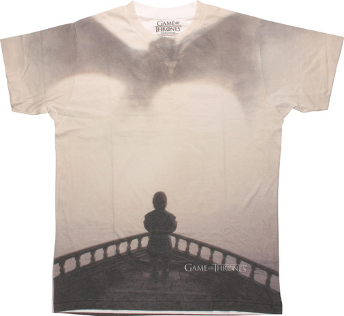 Game of Thrones Tyrion and Drogon T-Shirt Sheer