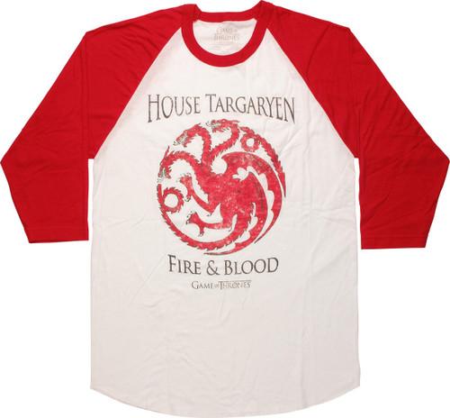 Game of Thrones House Targaryen Raglan T-Shirt