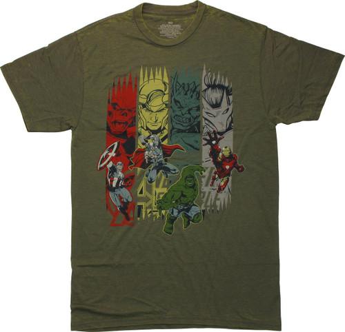 Avengers Heroes and Villains Green T-Shirt Sheer