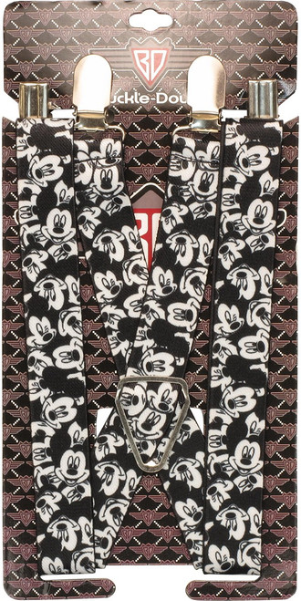 Mickey Mouse BW Head Jumble Suspenders