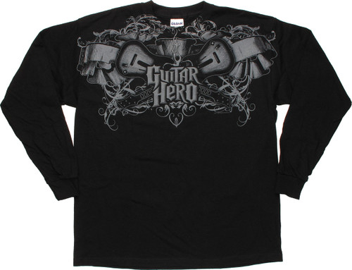 Guitar Hero Top Crest Long Sleeve Youth T-Shirt