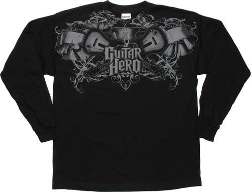 Guitar Hero Top Crest Long Sleeve Youth T-Shirt