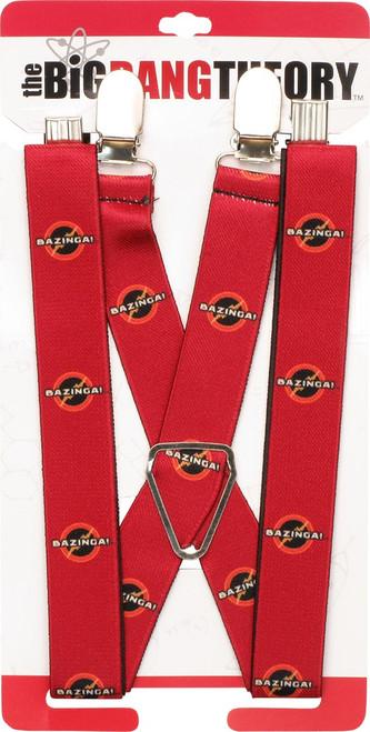 Big Bang Theory Bazinga Logo Suspenders