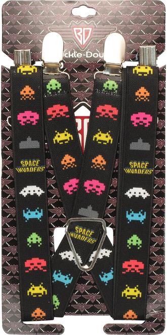 Atari Space Invaders Aliens Suspenders