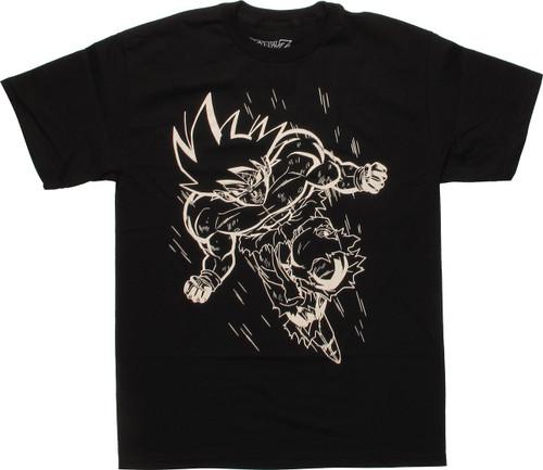 Dragon Ball Z Goku Outline Charge T-Shirt