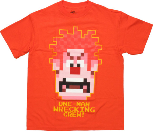 Wreck-It Ralph One Man Orange Youth T Shirt