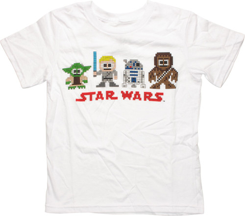 Star Wars 8 Bit Good Guys Youth T Shirt