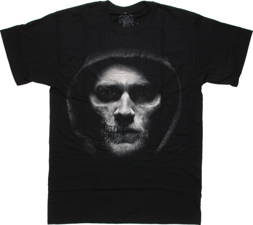 Sons of Anarchy Jax Hooded Skull Face T-Shirt