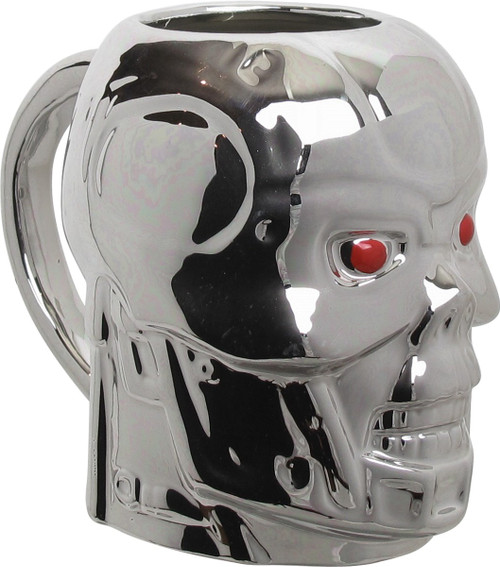 Terminator 2 Endoskeleton Skull Sculpted Mug