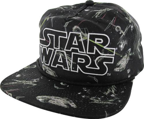 Star Wars Space Battle Slouch Snapback Hat