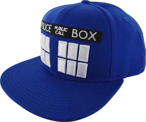 Doctor Who Tardis Blue Snapback Hat
