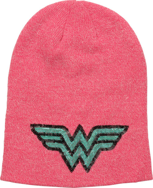 Wonder Woman Sequin Logo Slouch Beanie
