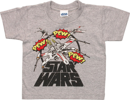 Star Wars X-Wing Pew Toddler T-Shirt
