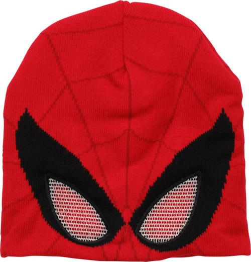 Spiderman Mask Mesh Eyes Beanie