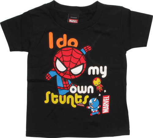 Spiderman Do My Own Stunts Toddler T-Shirt