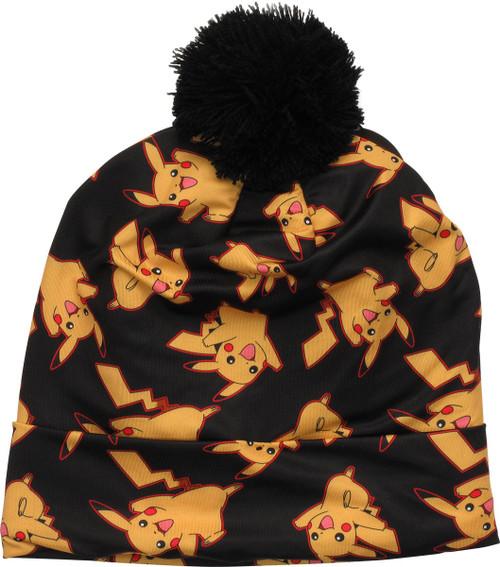 Pokemon Pikachu All Over Sublimated Pom Beanie