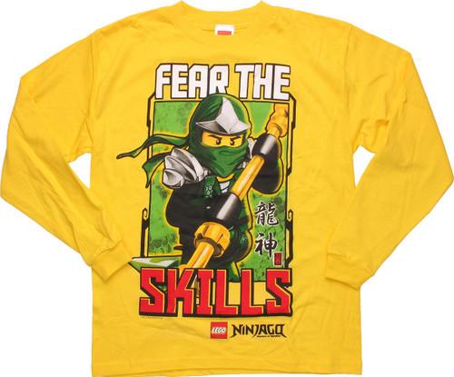 Lego Ninjago Fear Skills Long Sleeve Youth T-Shirt