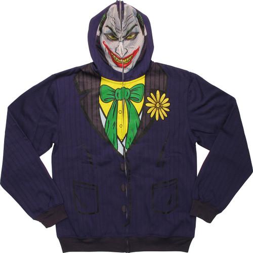 Joker Deluxe Suit Up Mask Hoodie
