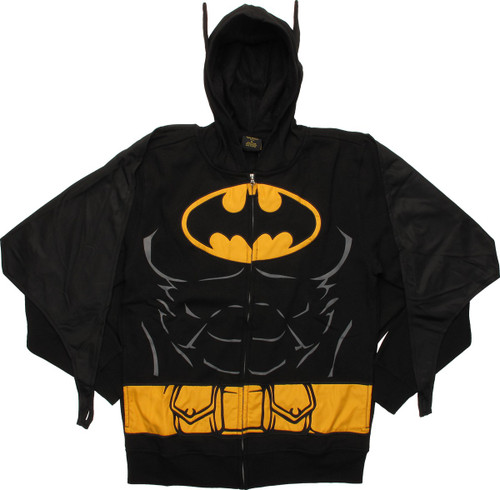 Batman Deluxe Suit Up Cape Zip Hoodie