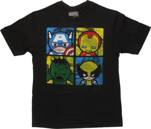 Avengers Toys Quad Black T-Shirt