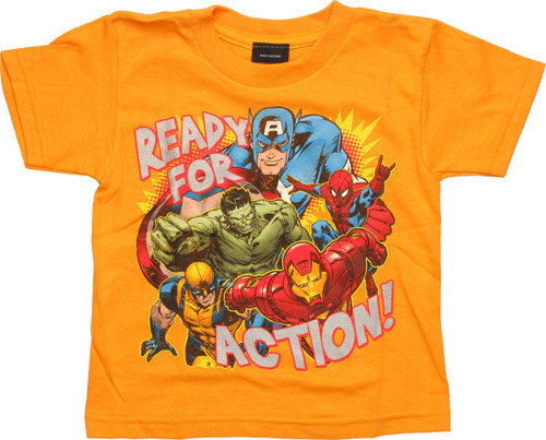 Avengers Ready Action Gold Toddler T-Shirt