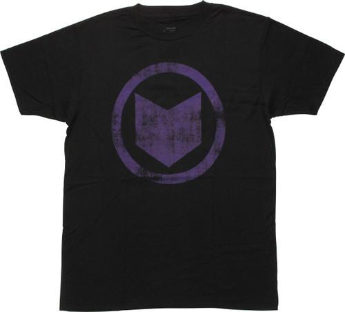 Avengers Hawkeye Distressed Logo T-Shirt Sheer