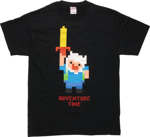 Adventure Time Pixel Finn T-Shirt