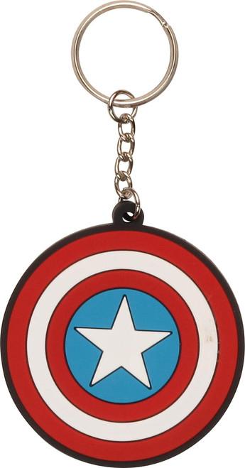 Captain America Shield Logo Keychain