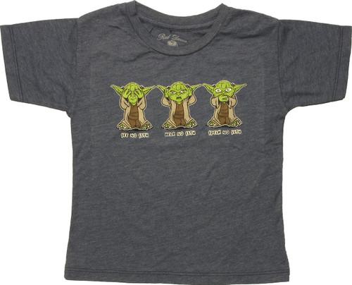 Star Wars Yoda No Sith Toddler T-Shirt