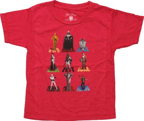 Star Wars Characters and Names Toddler T-Shirt