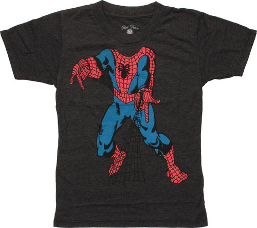 Spiderman Body Web Shoot Juvenile T-Shirt