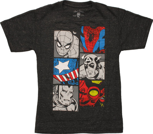 Marvel Heroes Body Squares Juvenile T-Shirt