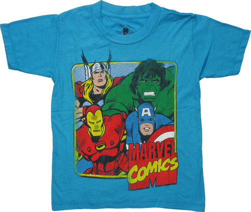 Avengers Square Wash Red Decco Juvenile T-Shirt
