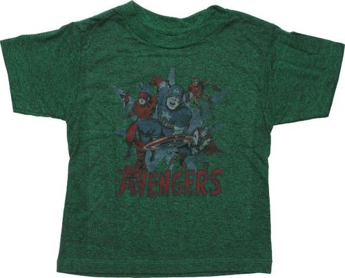 Avengers Heroes Faded Out Toddler T-Shirt