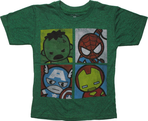 Avengers Hero Toy Faces Juvenile T-Shirt