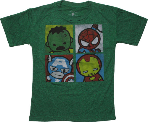 Avengers Hero Toy Faces Youth T-Shirt