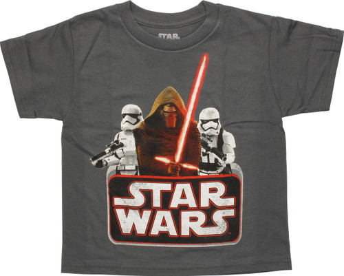 Star Wars Kylo Ren and Troopers Juvenile T-Shirt